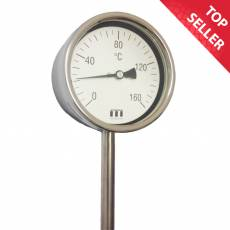 Vertical Rigid Stem Dial Thermometer